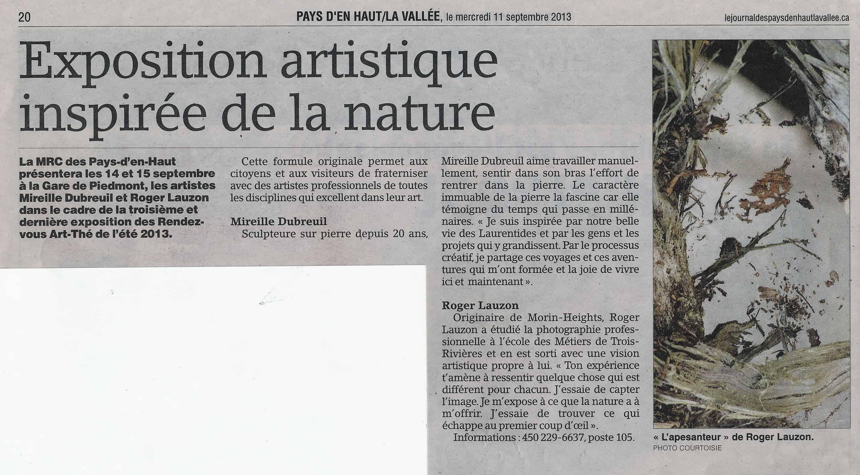 LE JOURNAL PAYS D'EN HAUT / VALLÉE